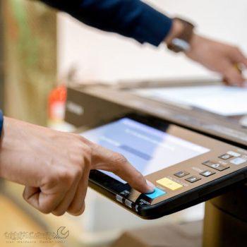 رفع گیر کردن کاغذ در دستگاه کپی