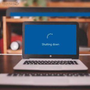 خاموش نشدن لپ تاپ